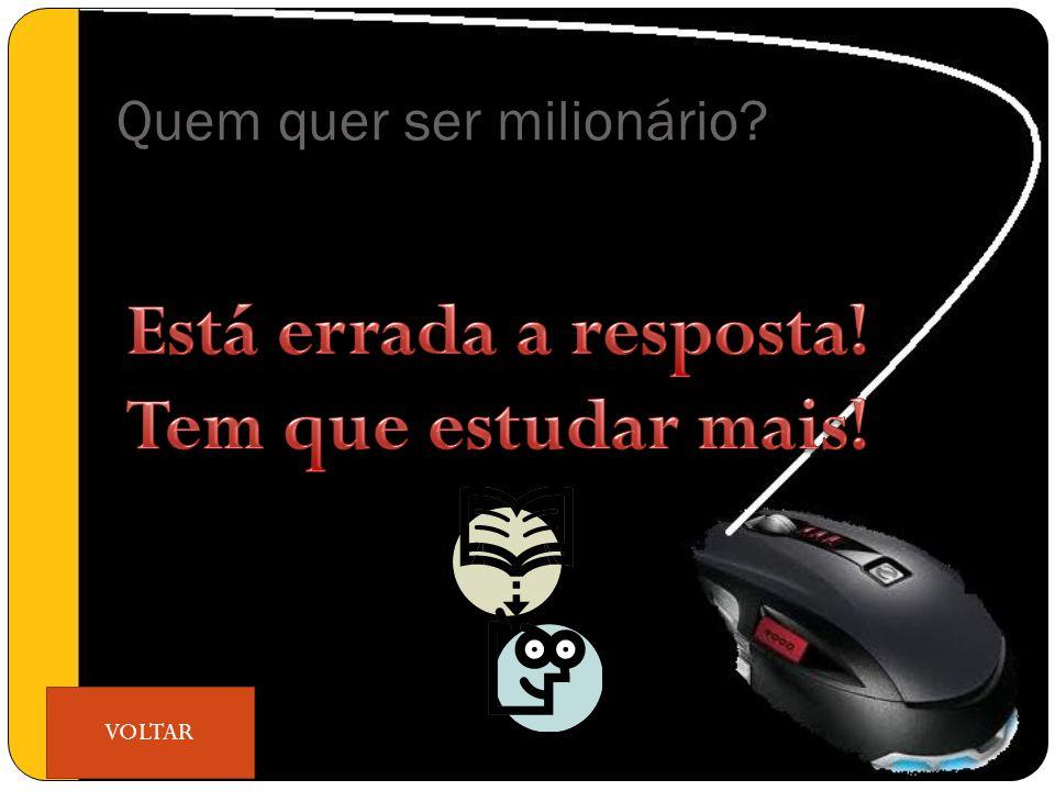 Quem quer ser milionário VOLTAR