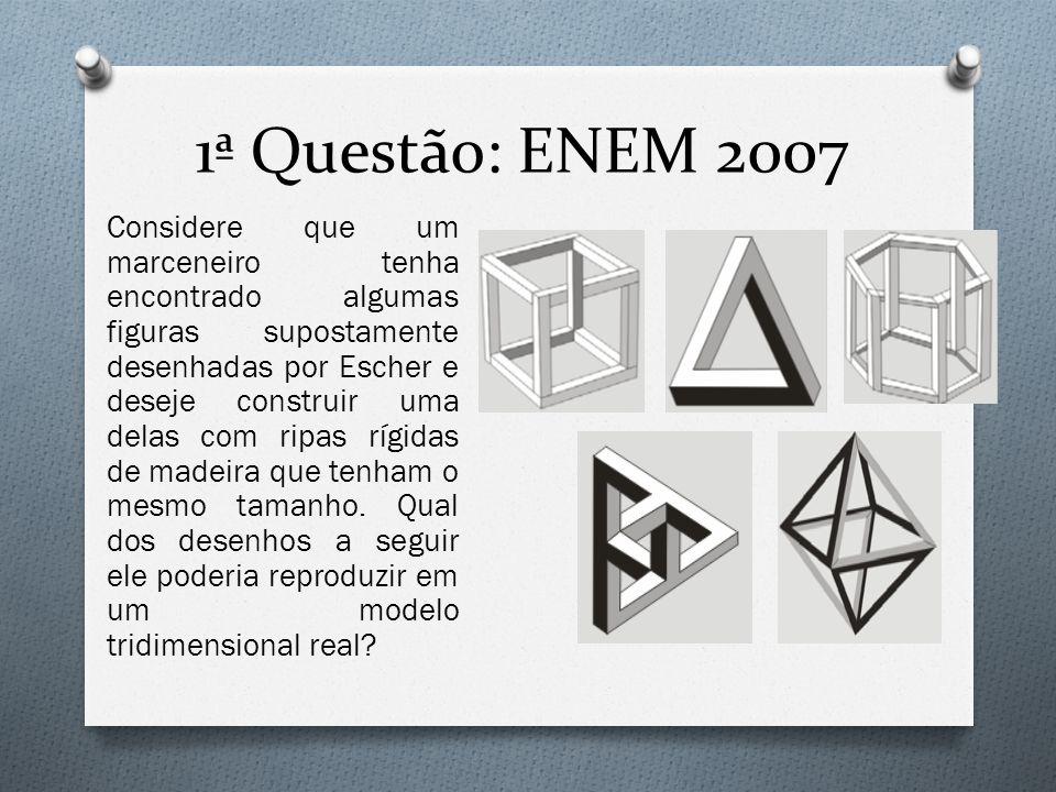 Considere que um marceneiro tenha encontrado algumas figuras supostamente desenhadas por Escher e deseje construir uma delas com ripas rígidas de made
