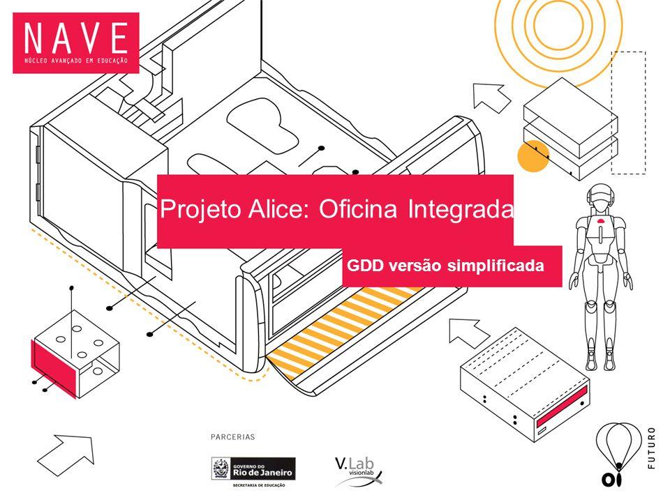 Projeto Alice: Oficina Integrada GDD versão simplificada