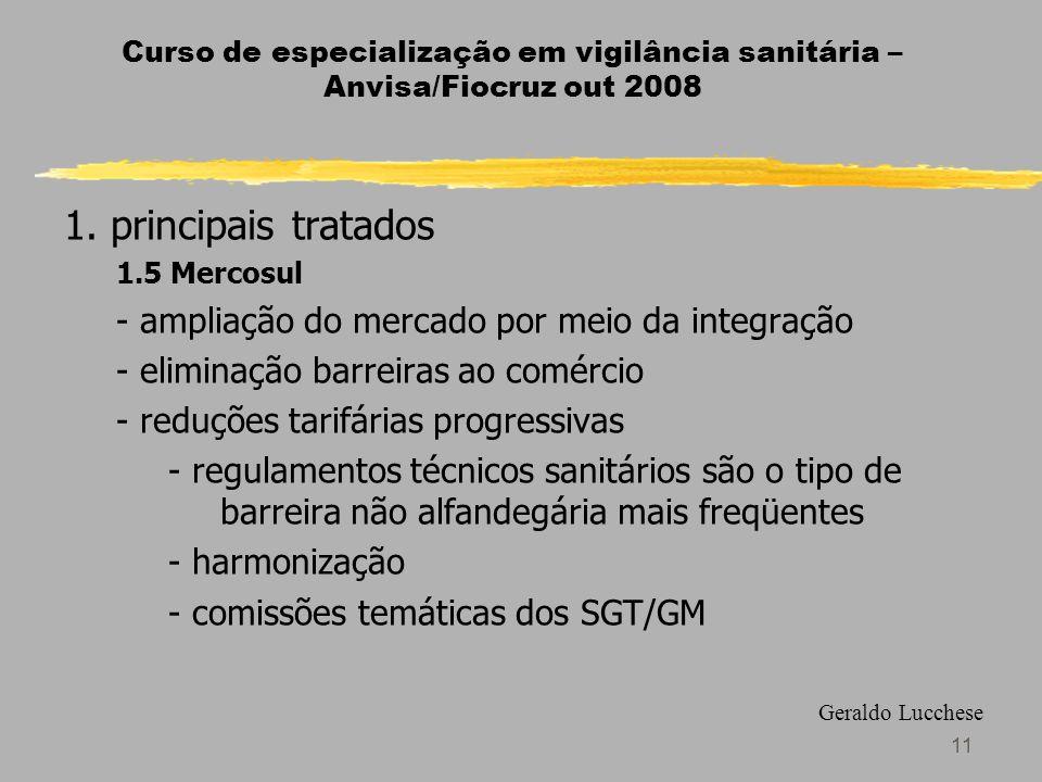 11 Curso de especialização em vigilância sanitária – Anvisa/Fiocruz out 2008 1.