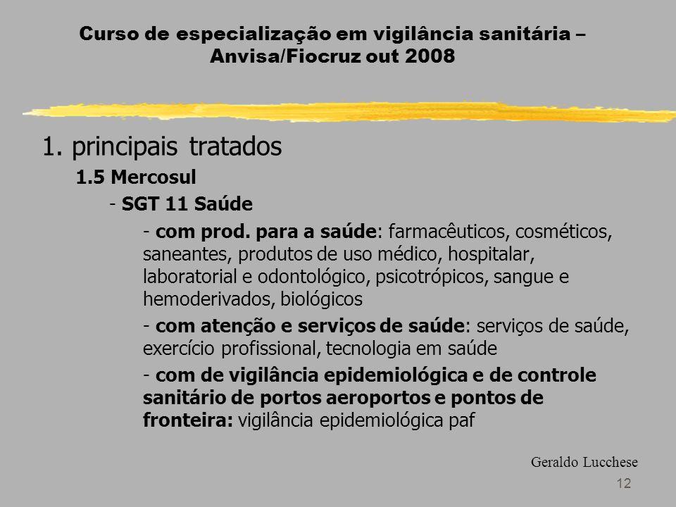 12 Curso de especialização em vigilância sanitária – Anvisa/Fiocruz out 2008 1.
