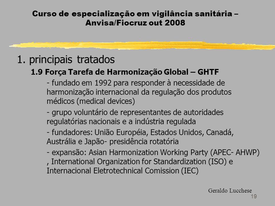 19 Curso de especialização em vigilância sanitária – Anvisa/Fiocruz out 2008 1.