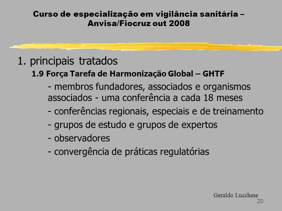 20 Curso de especialização em vigilância sanitária – Anvisa/Fiocruz out 2008 1.