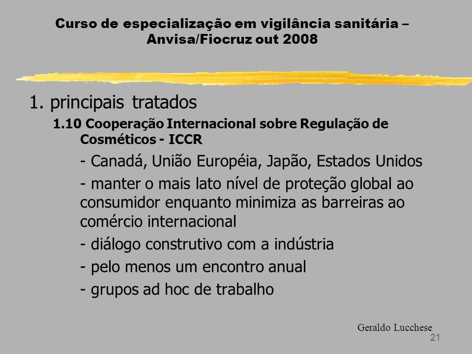 21 Curso de especialização em vigilância sanitária – Anvisa/Fiocruz out 2008 1.