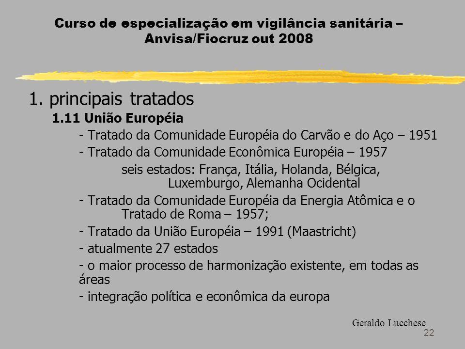 22 Curso de especialização em vigilância sanitária – Anvisa/Fiocruz out 2008 1.