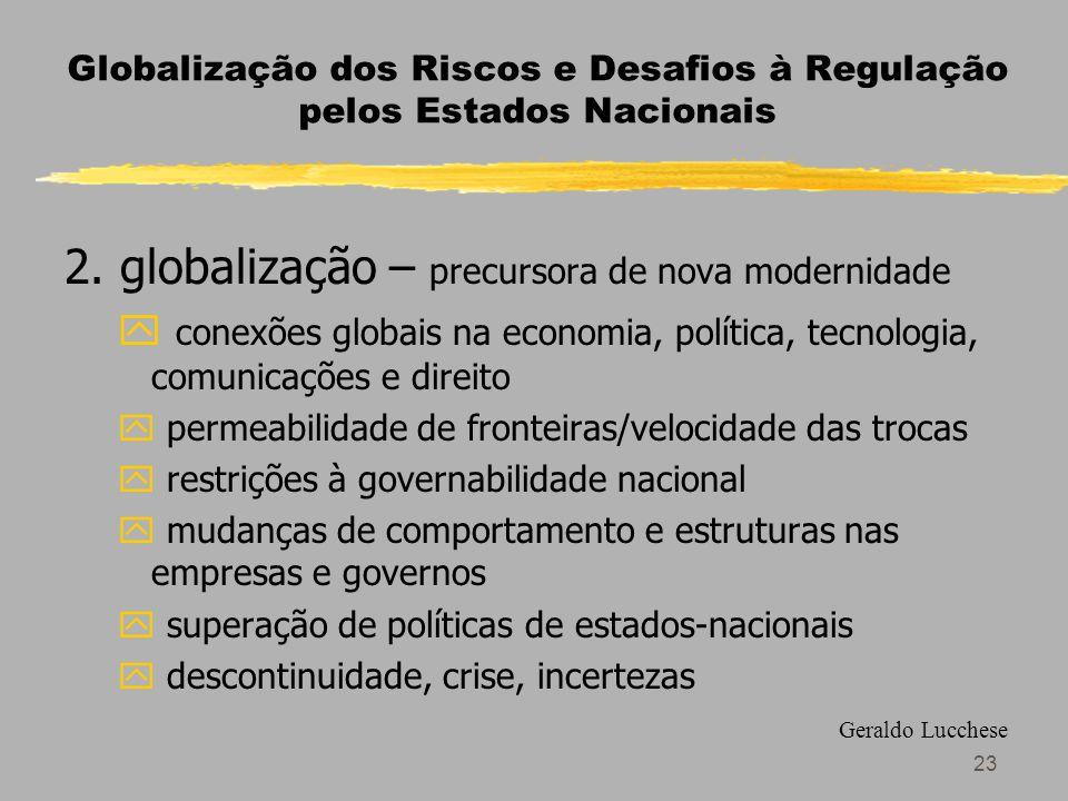 23 Globalização dos Riscos e Desafios à Regulação pelos Estados Nacionais 2.