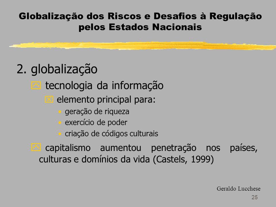 25 Globalização dos Riscos e Desafios à Regulação pelos Estados Nacionais 2.