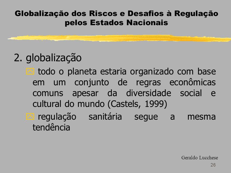 26 Globalização dos Riscos e Desafios à Regulação pelos Estados Nacionais 2.