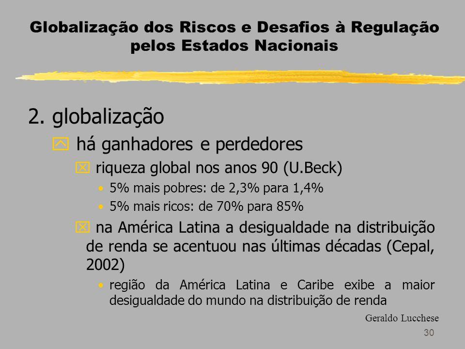 30 Globalização dos Riscos e Desafios à Regulação pelos Estados Nacionais 2.