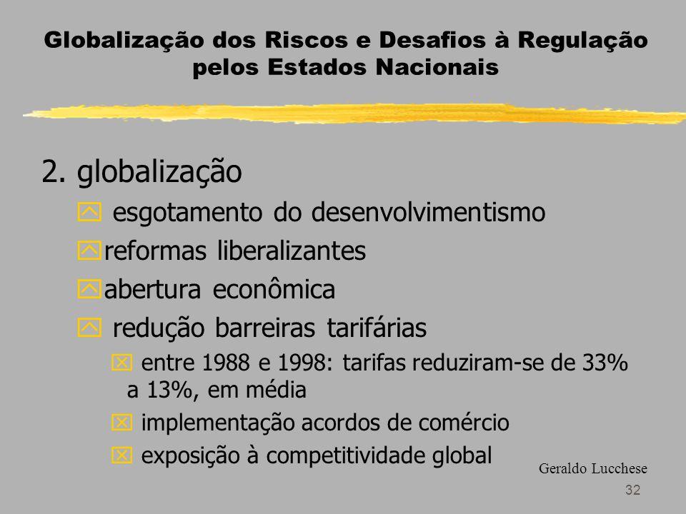 32 Globalização dos Riscos e Desafios à Regulação pelos Estados Nacionais 2.