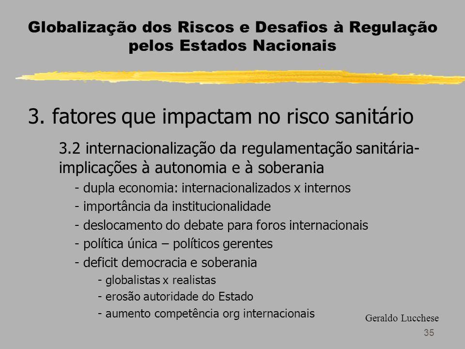 35 Globalização dos Riscos e Desafios à Regulação pelos Estados Nacionais 3.