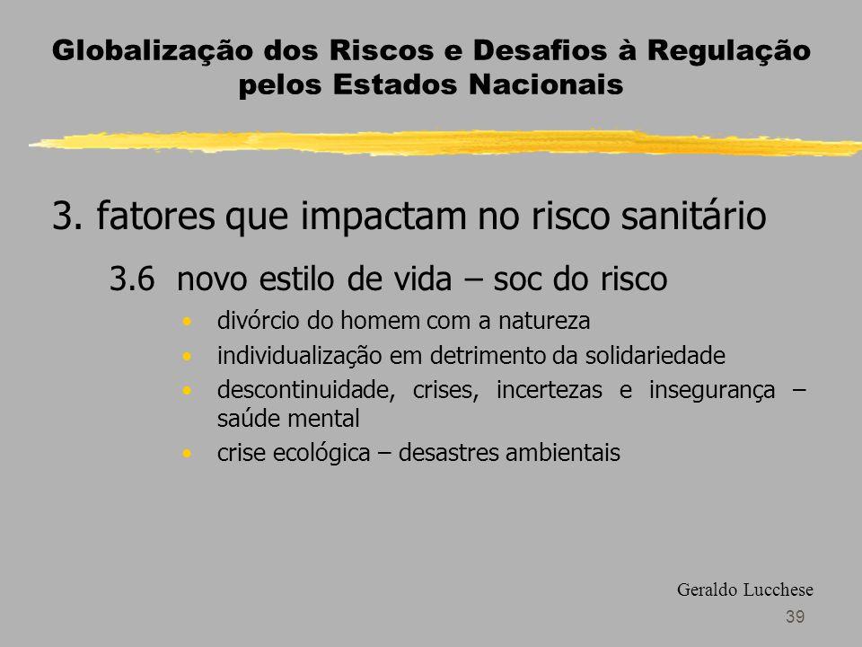 39 Globalização dos Riscos e Desafios à Regulação pelos Estados Nacionais 3.