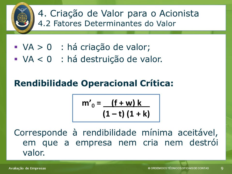© ORDEM DOS TÉCNICOS OFICIAIS DE CONTAS 10 4.