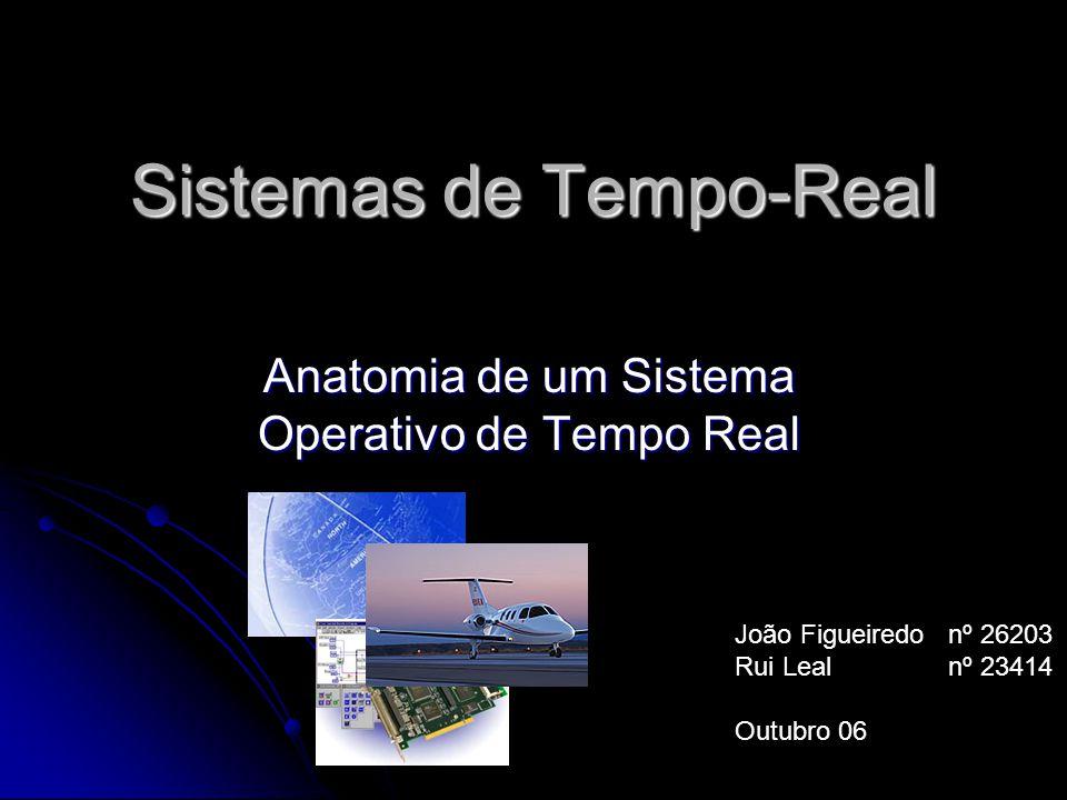 Sistemas de Tempo-Real Anatomia de um Sistema Operativo de Tempo Real João Figueiredonº 26203 Rui Lealnº 23414 Outubro 06
