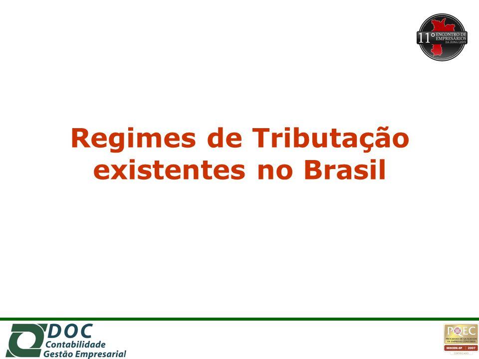 Regimes de Tributação existentes no Brasil