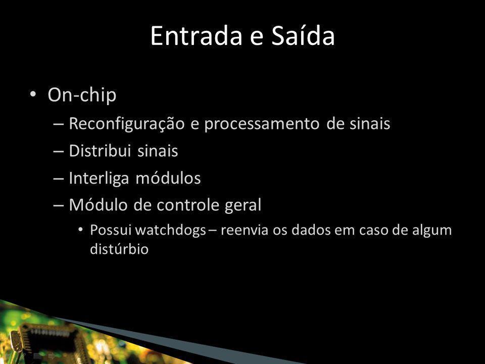 On-chip – Reconfiguração e processamento de sinais – Distribui sinais – Interliga módulos – Módulo de controle geral Possui watchdogs – reenvia os dados em caso de algum distúrbio Entrada e Saída