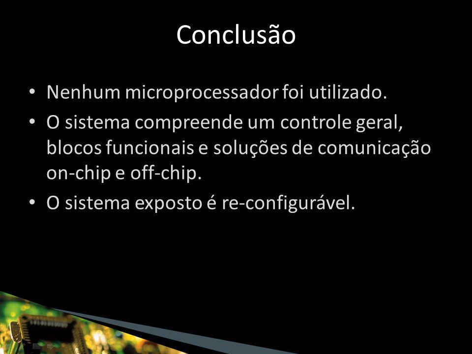 Nenhum microprocessador foi utilizado.