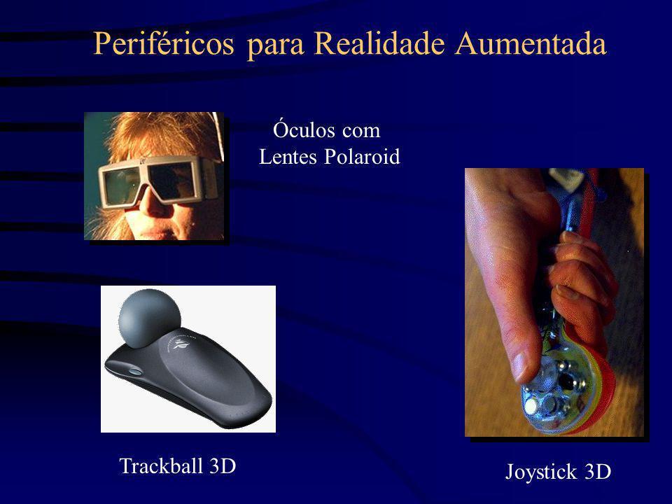Periféricos para Realidade Aumentada Óculos com Lentes Polaroid Joystick 3D Trackball 3D