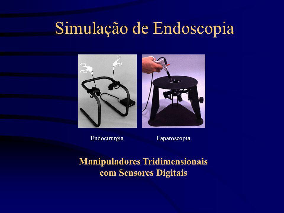 Simulação de Endoscopia Manipuladores Tridimensionais com Sensores Digitais EndocirurgiaLaparoscopia
