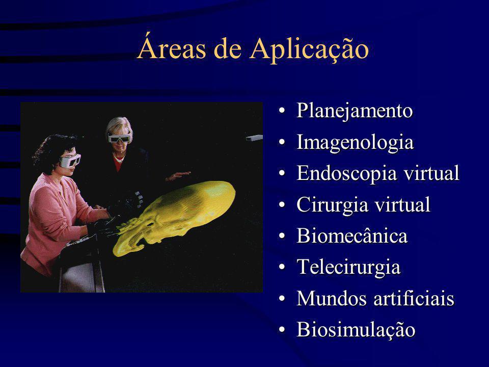 Áreas de Aplicação PlanejamentoPlanejamento ImagenologiaImagenologia Endoscopia virtualEndoscopia virtual Cirurgia virtualCirurgia virtual Biomecânica