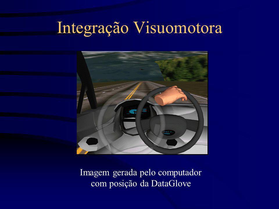 Integração Visuomotora Imagem gerada pelo computador com posição da DataGlove