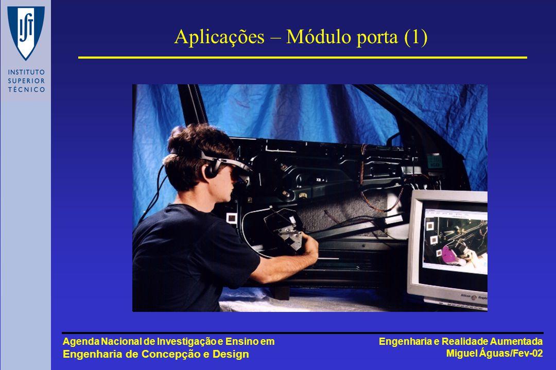 Engenharia e Realidade Aumentada Miguel Águas/Fev-02 Agenda Nacional de Investigação e Ensino em Engenharia de Concepção e Design Aplicações – Módulo porta (1)