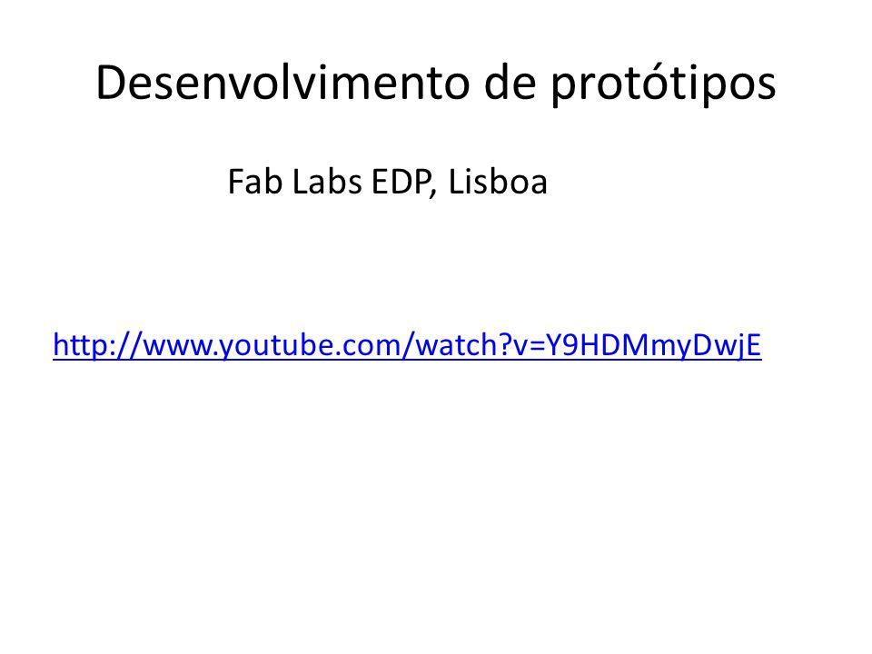 Desenvolvimento de protótipos Fab Labs EDP, Lisboa http://www.youtube.com/watch?v=Y9HDMmyDwjE