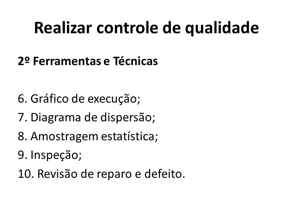 Realizar controle de qualidade 2º Ferramentas e Técnicas 6.
