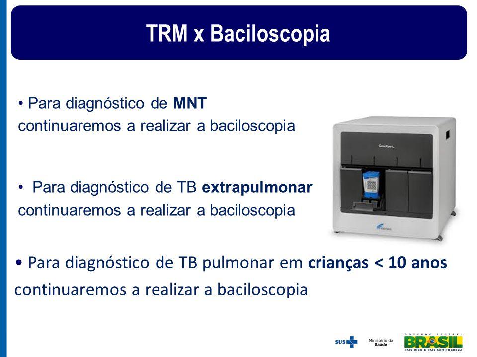 Para diagnóstico de MNT continuaremos a realizar a baciloscopia Para diagnóstico de TB extrapulmonar continuaremos a realizar a baciloscopia Para diag