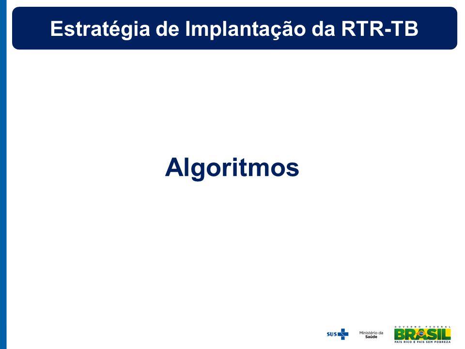 Algoritmos Estratégia de Implantação da RTR-TB