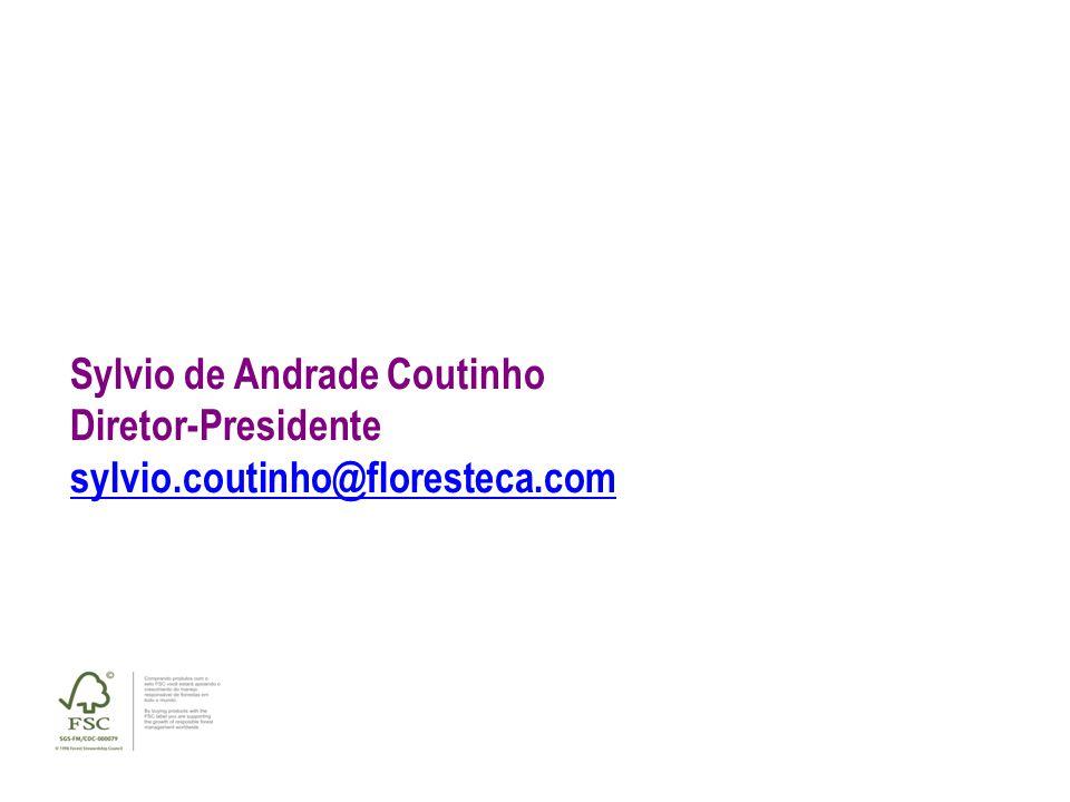 Sylvio de Andrade Coutinho Diretor-Presidente sylvio.coutinho@floresteca.com OBRIGADO!