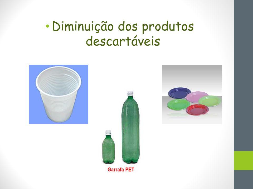 Diminuição dos produtos descartáveis