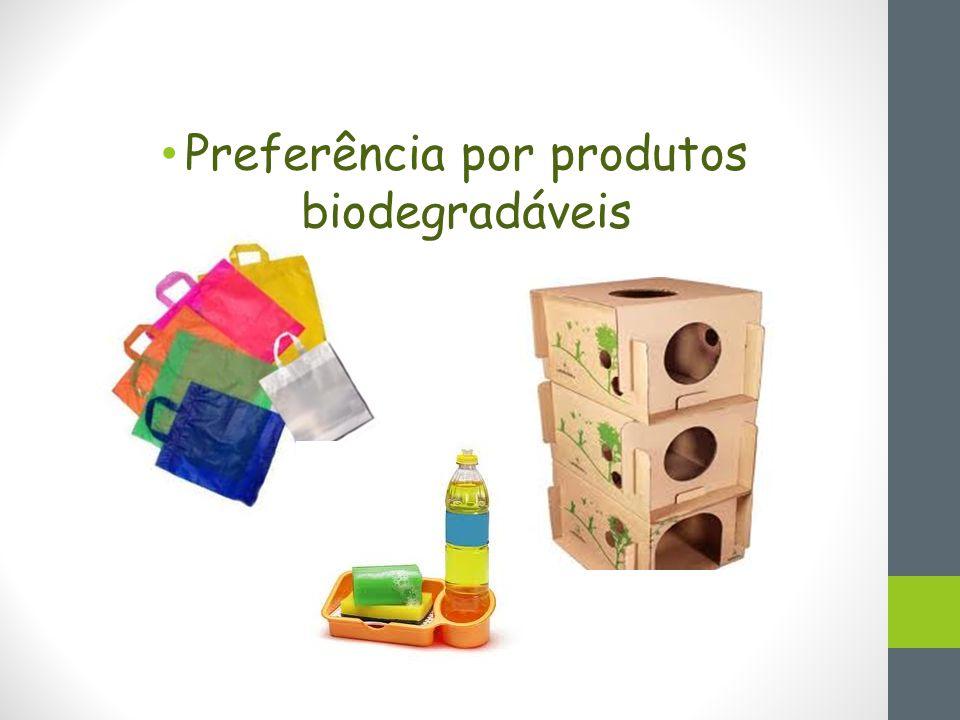 Preferência por produtos biodegradáveis