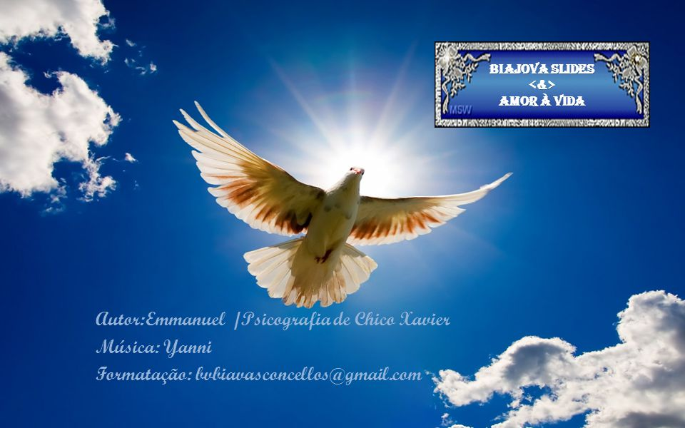 Plante amor e paz e a vida lhe trará colheita de paz e amor.