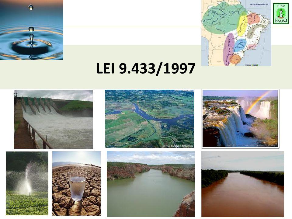 PRINCÍPIOS BÁSICOS 1 – BACIA HIDROGRÁFICA = UNIDADE DE PLANEJAMENTO  Balanço hídrico  Disponibilidades x Demandas 2 – USOS MÚLTIPLOS DA ÁGUA  EletricidadeDoméstico Rural Industrial Lazer 3 – ÁGUA = BEM FINITO E VULNERÁVEL  Utilização preservacionista (Quantidade e Qualidade) 4 – VALOR ECONÔMICO DA ÁGUA  Uso racional = Base para cobrança pelo uso da água 5 – GESTÃO DE RECURSOS HÍDRICOS  Descentralizada + Participativa  Instrumentos de gestão