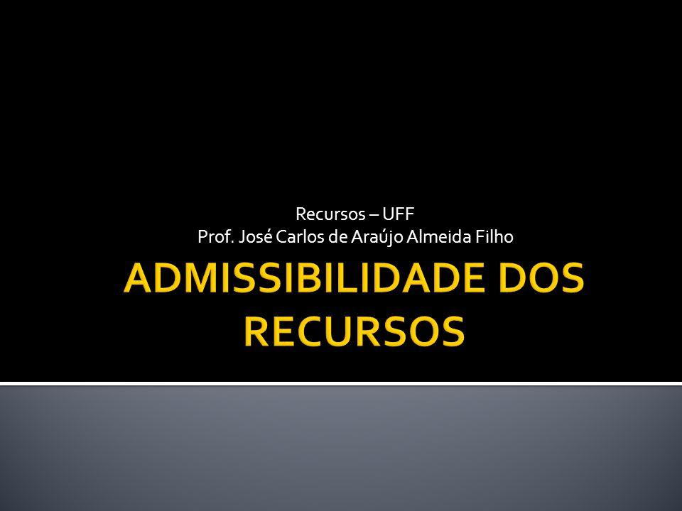 Recursos – UFF Prof. José Carlos de Araújo Almeida Filho