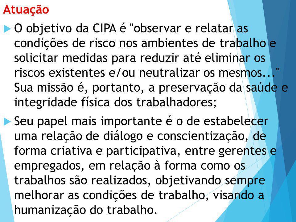 Atuação  O objetivo da CIPA é