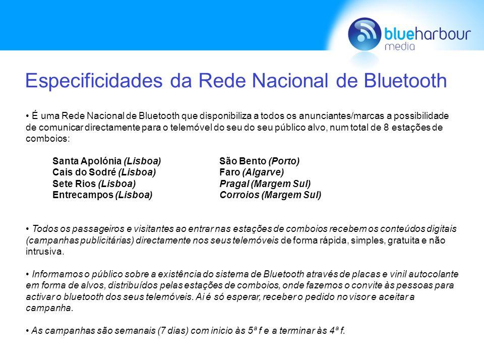 Vantagens do Meio Publicitário - Bluetooth Campanhas não intrusivas pois a mensagem não é descarregada directamente nos telemóveis sem a sua devida permissão.