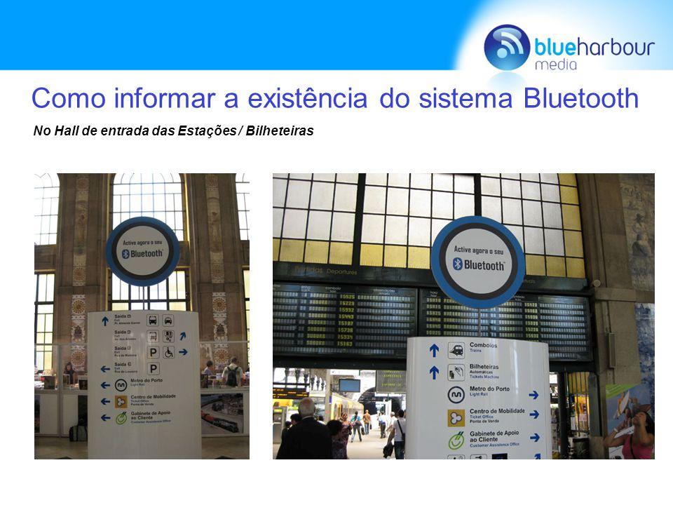 Como informar a existência do sistema Bluetooth Nas Plataformas / Linhas Comboios