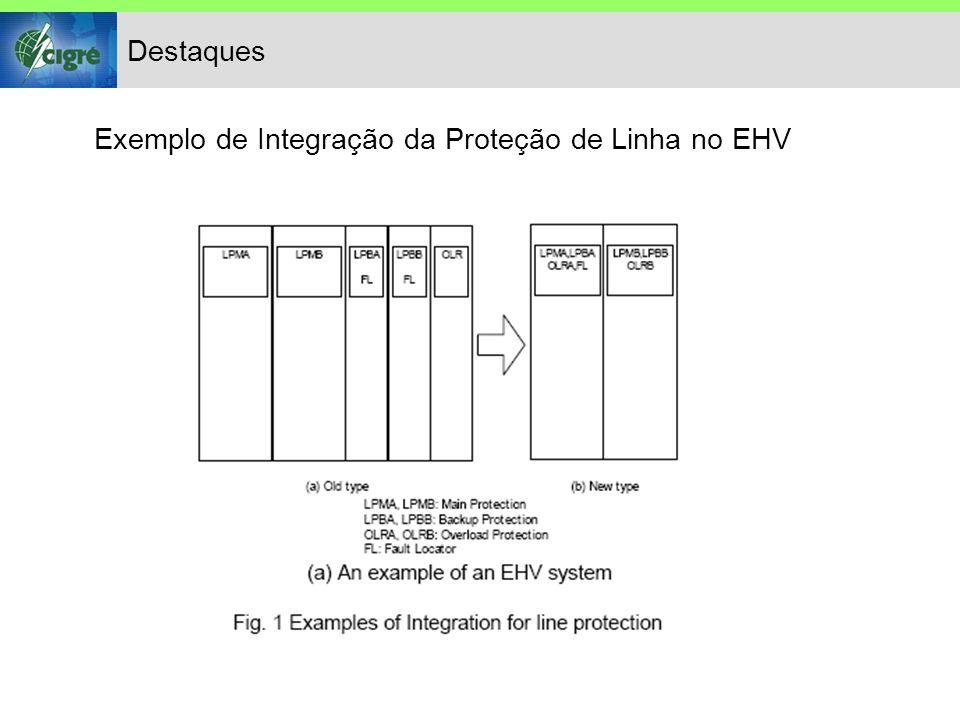 Destaques Exemplo de Integração da Proteção de Linha no EHV