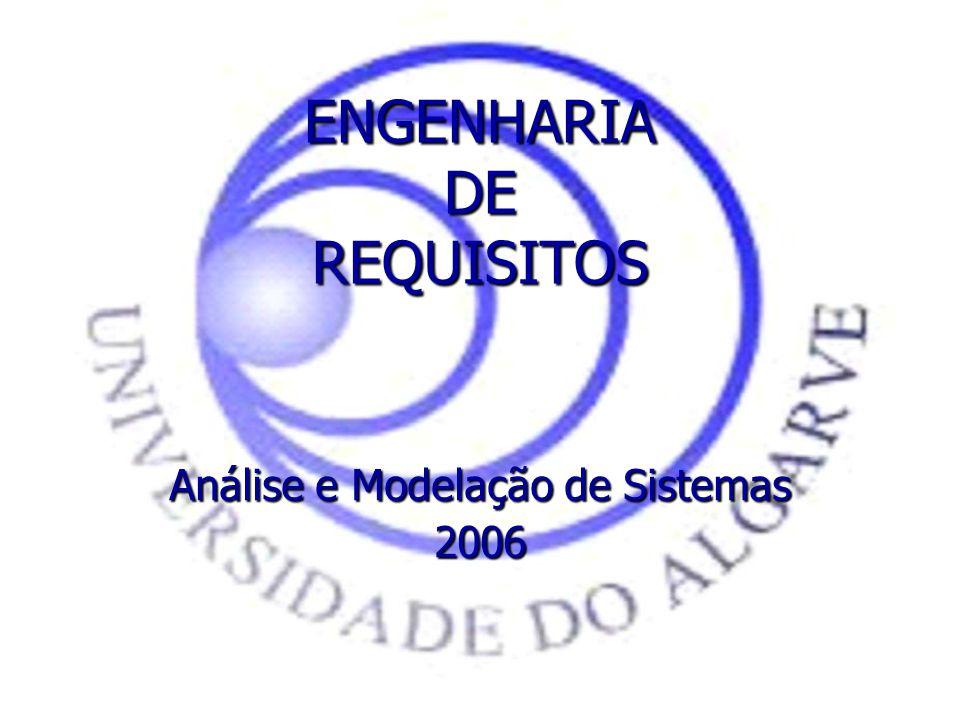ENGENHARIA DE REQUISITOS Análise e Modelação de Sistemas 2006
