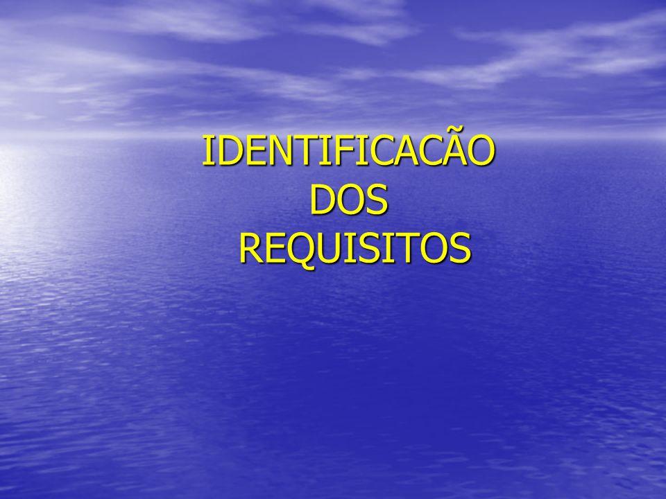IDENTIFICACÃO DOS REQUISITOS