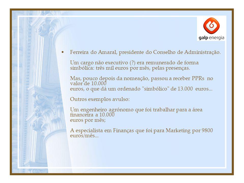 Neste momento, o presidente da Comissão executiva ganha 30.000 euros e os vogais 17.500.
