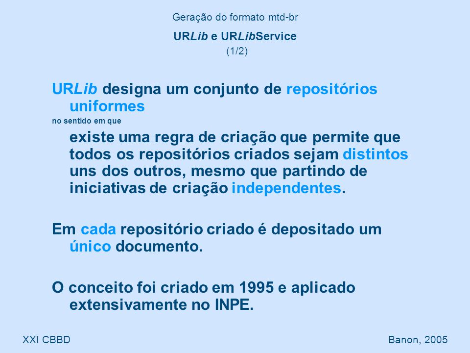 URLibService designa o programa de computador que gerencia a URLib.