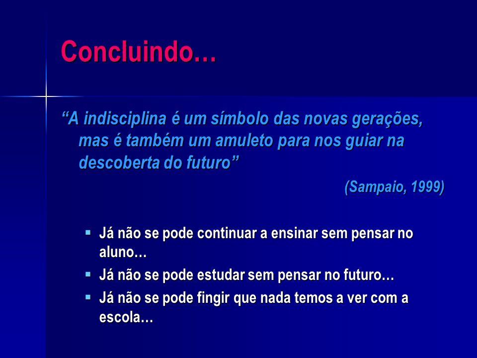 Medidas por Daniel Sampaio…  Co-responsabilização de professores, pais e alunos;  Relação professor - aluno;  Relação professor - pais;  Incentivo