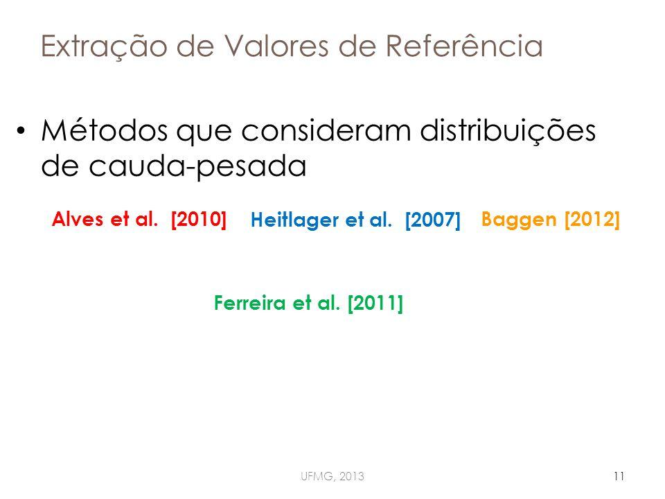 Extração de Valores de Referência Métodos que consideram distribuições de cauda-pesada UFMG, 201311 Ferreira et al.