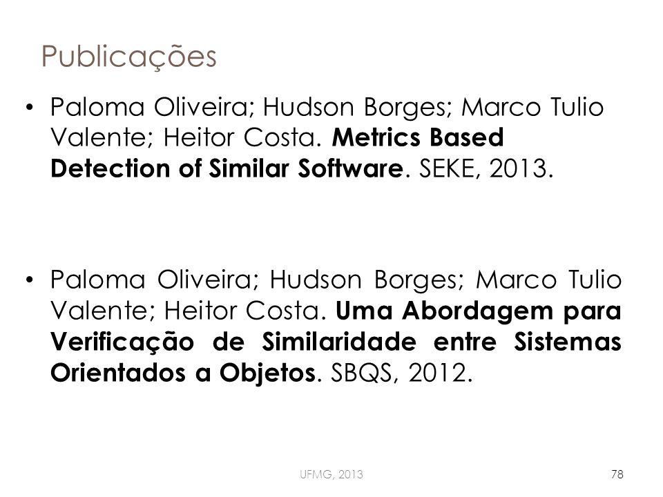 Publicações UFMG, 201378 Paloma Oliveira; Hudson Borges; Marco Tulio Valente; Heitor Costa.