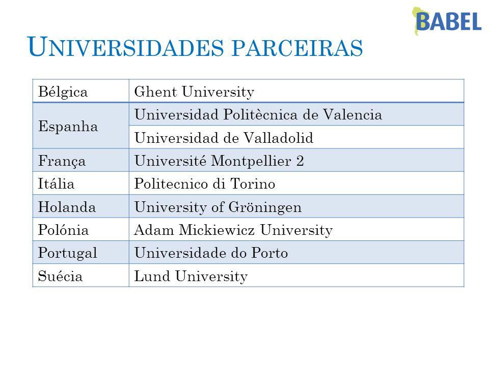 PARA MAIS INFORMAÇÕES: Universidad de Valladolid, Espanha munduslindo@uva.es www.uva.es/munduslindo