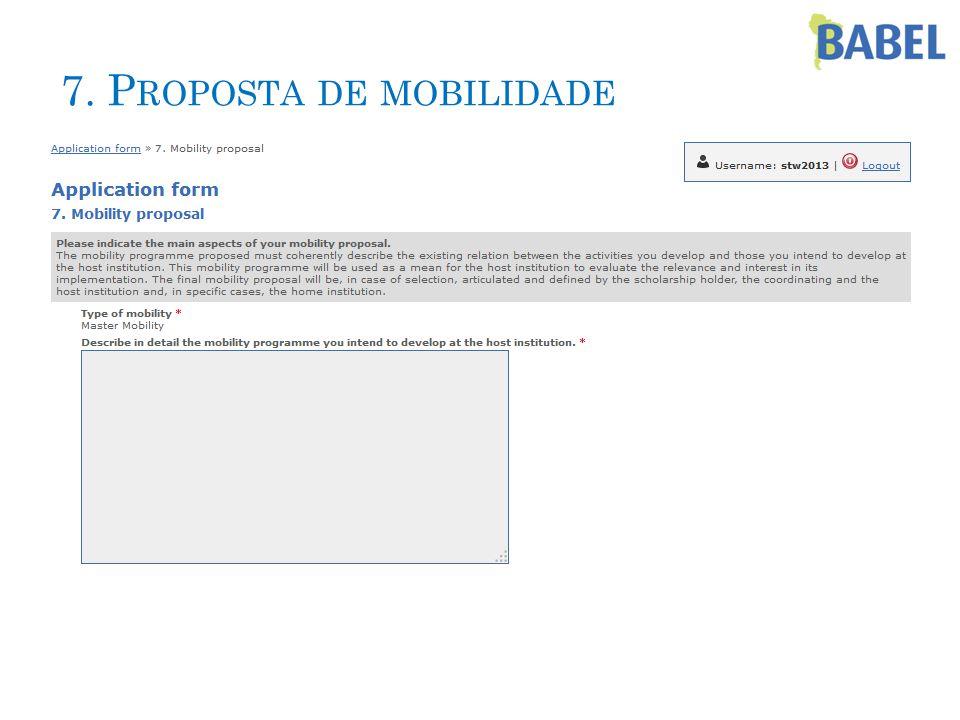 7. P ROPOSTA DE MOBILIDADE