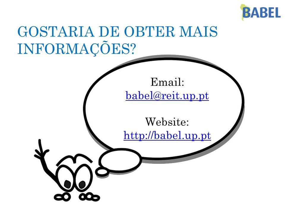 GOSTARIA DE OBTER MAIS INFORMAÇÕES.